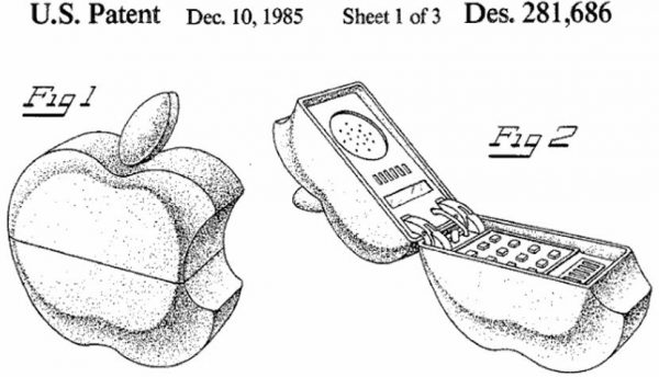 Apple Shaped Flip Phone